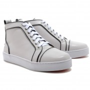 Replica Christian Louboutin Louis Jeweled Sneakers White Cheap Fake Shoes