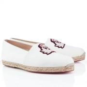 Replica Christian Louboutin Papi Hugo Sandals White Cheap Fake Shoes
