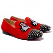 Replica Christian Louboutin Harvanana Loafers Red Cheap Fake Shoes