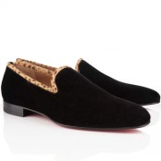 Replica Christian Louboutin Dandy Loafers Brown Cheap Fake Shoes