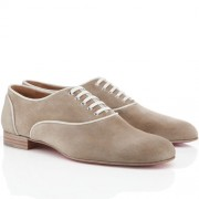Replica Christian Louboutin Alfred Loafers Taupe Cheap Fake Shoes