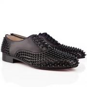 Replica Christian Louboutin Freddy Loafers Black Cheap Fake Shoes