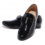 Replica Christian Louboutin Louvre Loafers Black Cheap Fake Shoes