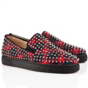Replica Christian Louboutin Roller Boat Loafers Red Cheap Fake Shoes