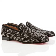 Replica Christian Louboutin Roller Loafers Black Cheap Fake Shoes