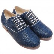 Replica Christian Louboutin Alfredo Loafers Navy Cheap Fake Shoes