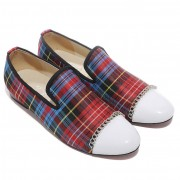 Replica Christian Louboutin Rollerboy Loafers Red Cheap Fake Shoes