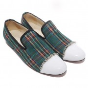 Replica Christian Louboutin Rollerboy Loafers Green Cheap Fake Shoes
