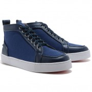 Replica Christian Louboutin Rantus Orlato Sneakers Blue Cheap Fake Shoes