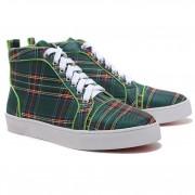 Replica Christian Louboutin Louis TarTaupe Sneakers Green Cheap Fake Shoes