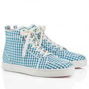 Replica Christian Louboutin Rantulow Sneakers Blue Cheap Fake Shoes