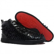 Replica Christian Louboutin Louis Pik Pik Sneakers Black Cheap Fake Shoes