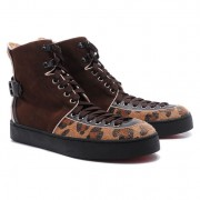 Replica Christian Louboutin Alfie Sneakers Brown Cheap Fake Shoes