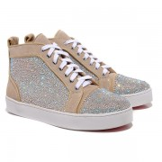 Replica Christian Louboutin Louis Strass Sneakers Taupe Cheap Fake Shoes