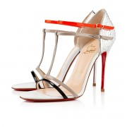 Replica Christian Louboutin Arnold 100mm Sandals Silver Cheap Fake Shoes