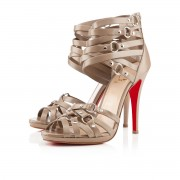 Replica Christian Louboutin Camerona 120mm Sandals Stone Cheap Fake Shoes