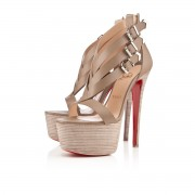 Replica Christian Louboutin Charleze 160mm Sandals Stone Cheap Fake Shoes