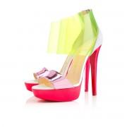 Replica Christian Louboutin Dufoura 140mm Sandals Rose Paris Cheap Fake Shoes