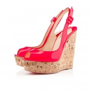Replica Christian Louboutin Une plume 140mm Wedges Rose Paris Cheap Fake Shoes