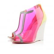 Replica Christian Louboutin Scuba 100mm Wedges Canari/Stone Cheap Fake Shoes