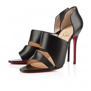 Replica Christian Louboutin Martissimo 100mm Sandals Black Cheap Fake Shoes
