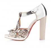 Replica Christian Louboutin Tably 120mm Sandals Sand Cheap Fake Shoes