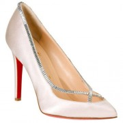 Replica Christian Louboutin Super Vic 120mm Pumps White Cheap Fake Shoes