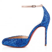 Replica Christian Louboutin Tres Decollete 100mm Pumps Blue Cheap Fake Shoes