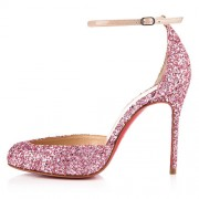 Replica Christian Louboutin Tres Decollete 100mm Pumps Light Pink Cheap Fake Shoes