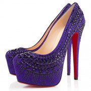 Replica Christian Louboutin Decorapump 160mm Pumps Purple Cheap Fake Shoes