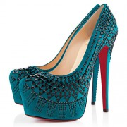 Replica Christian Louboutin Decorapump 160mm Pumps Peacock Cheap Fake Shoes