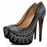 Replica Christian Louboutin Decorapump 160mm Pumps Black Cheap Fake Shoes