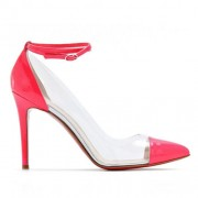 Replica Christian Louboutin Bis Un Bout 100mm Pumps Pink Cheap Fake Shoes