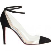 Replica Christian Louboutin Bis Un Bout 100mm Pumps Black Cheap Fake Shoes