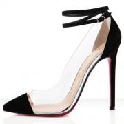 Replica Christian Louboutin Bis Un Bout 120mm Pumps Black Cheap Fake Shoes