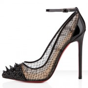 Replica Christian Louboutin Picks And Co 120mm Pumps Black Cheap Fake Shoes