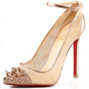 Replica Christian Louboutin Picks And Co 120mm Pumps Gold Cheap Fake Shoes