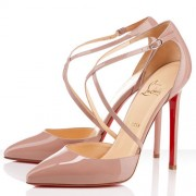 Replica Christian Louboutin Crosspiga 120mm Pumps Nude Cheap Fake Shoes