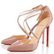 Replica Christian Louboutin Crosspiga 120mm Pumps Nude Cheap Fake Shoes