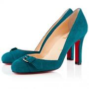 Replica Christian Louboutin Lilibelt 100mm Pumps Peacock Cheap Fake Shoes