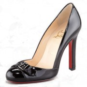 Replica Christian Louboutin Lilibelt 100mm Pumps Black Cheap Fake Shoes