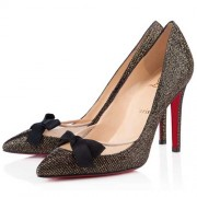 Replica Christian Louboutin Love Me 100mm Pumps Black Cheap Fake Shoes