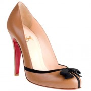 Replica Christian Louboutin Lavalliere 100mm Pumps Taupe Cheap Fake Shoes