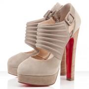 Replica Christian Louboutin Bye Bye 160mm Pumps Beige Cheap Fake Shoes
