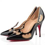Replica Christian Louboutin Indies 120mm Pumps Black Cheap Fake Shoes