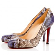 Replica Christian Louboutin Simple 100mm Pumps Purple Cheap Fake Shoes