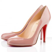 Replica Christian Louboutin Ron Ron 100mm Pumps Nude Cheap Fake Shoes