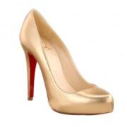 Replica Christian Louboutin Rolando Hidden 120mm Pumps Gold Cheap Fake Shoes