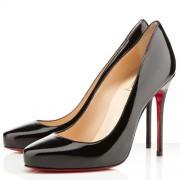 Replica Christian Louboutin Elisa 100mm Pumps Black Cheap Fake Shoes