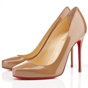 Replica Christian Louboutin Elisa 100mm Pumps Camel Cheap Fake Shoes